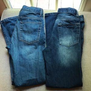 Gap Jeans Boys 14R slim Straight 2 pair EUC